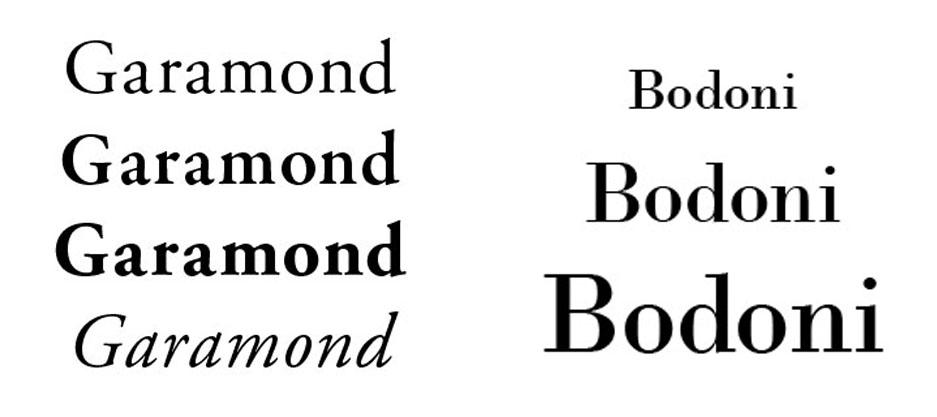 tipografia-comparacion-garamond-bodoni